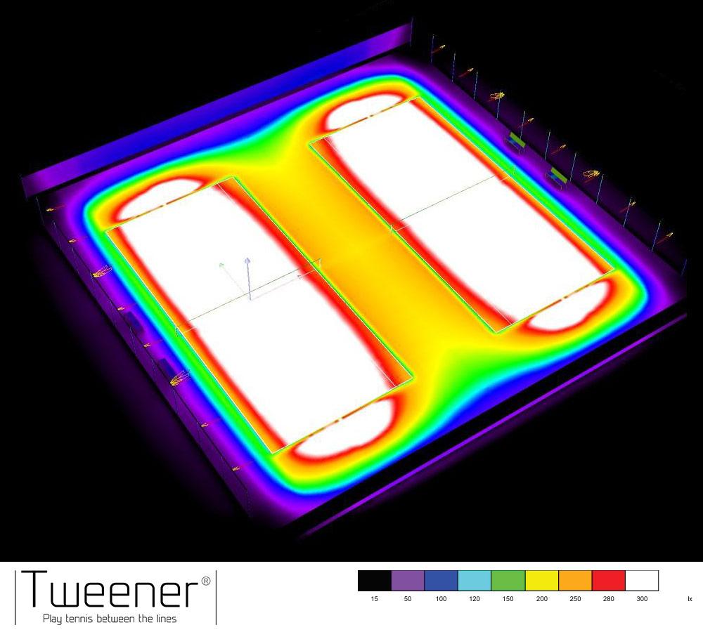 LED Double Tweener Zaunbeleuchtung Ausleuchtung